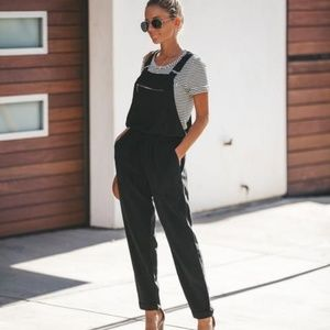 Vici Journey Tencel Drawstring Pocketed Overalls